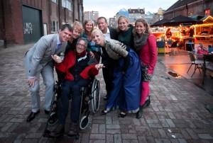 Het complete gezin Van Wieren op de bruiloft van Ruth en Wessel